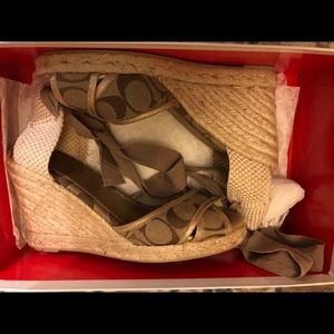 Coach espadrille wedge sandals
